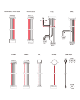 The CUBE standard cable set