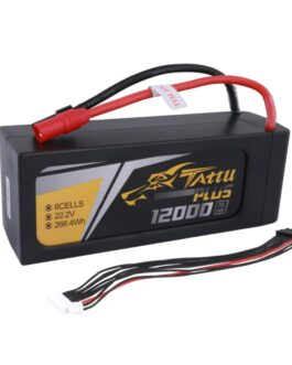 Tattu Plus 12000mAh 22.2V 15C 6S1P Lipo Battery Pack with AS150+XT150 plug