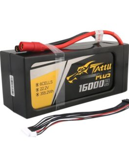 Tattu Plus 16000mAh 22.2V 15C 6S1P Lipo Battery Pack with AS150+XT150 plug